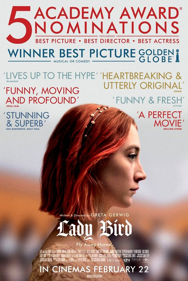 Lady Bird (2017) Movie Poster Google image from https://www.singaporefilmsociety.com/event/ladybird/