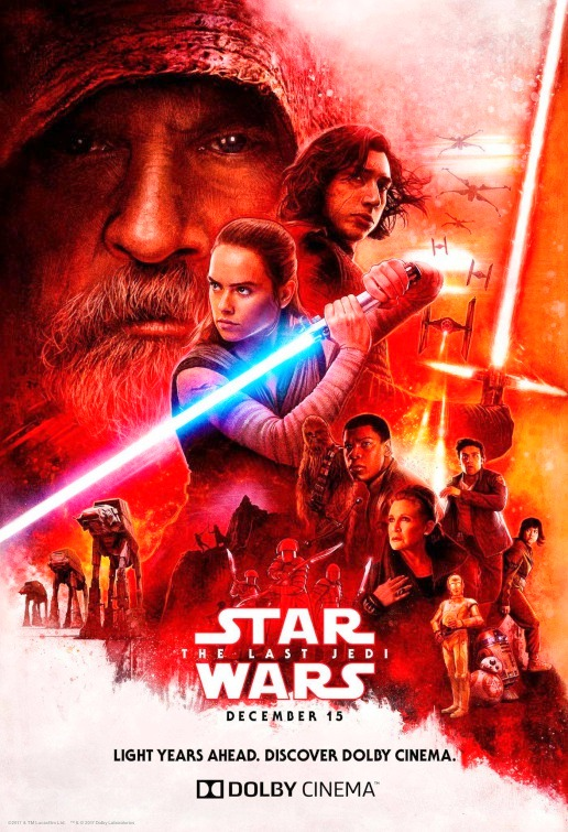 Star Wars: Episode VIII - The Last Jedi (2017) Movie Poster Google image from http://www.impawards.com/2017/star_wars_the_last_jedi_ver16.html