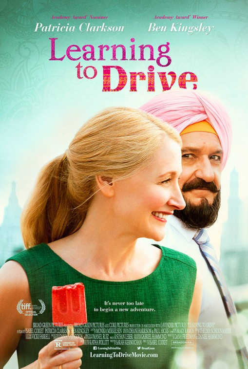 Learning to Drive (2014) Movie Poster Google image from http://www.impawards.com/2015/posters/learning_to_drive.jpg