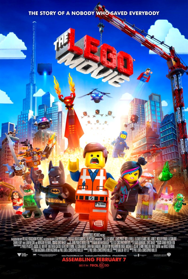 Lego Movie (2014) Movie Poster Google image from http://www.impawards.com/2014/lego_movie_ver9_xlg.html