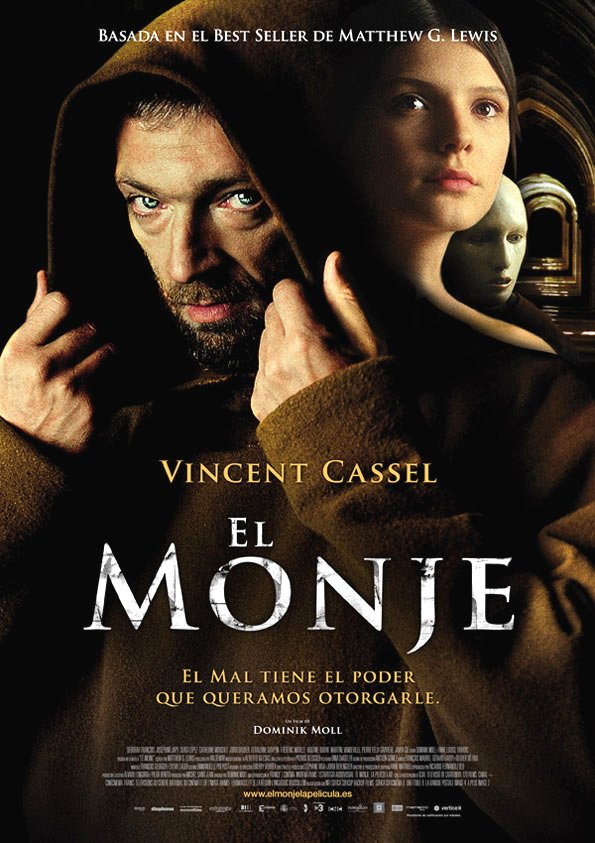 Le Moine Movie Poster Google image from http://soniaunleashed.files.wordpress.com/2012/02/el-monje-le-moine-monk-poster.jpg
