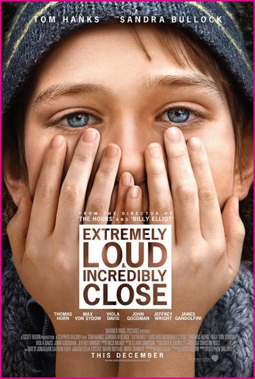 Extremely Loud and Incredibly Close Movie Poster Google image from http://www.disneydreaming.com/wp-content/uploads/2011/09/Extremely-Loud-And-Incredibly-Close-Movie-Poster.jpg