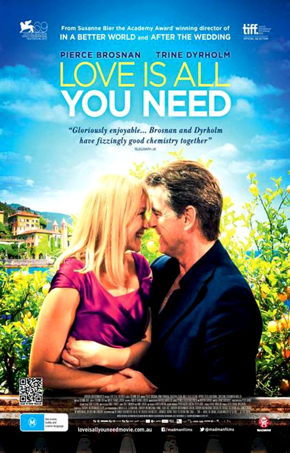 Love Is All You Need Movie Poster Google image from http://www.nzwomansweekly.co.nz/wp-content/uploads/2012/11/Love-is-all-you-need-poster.jpg