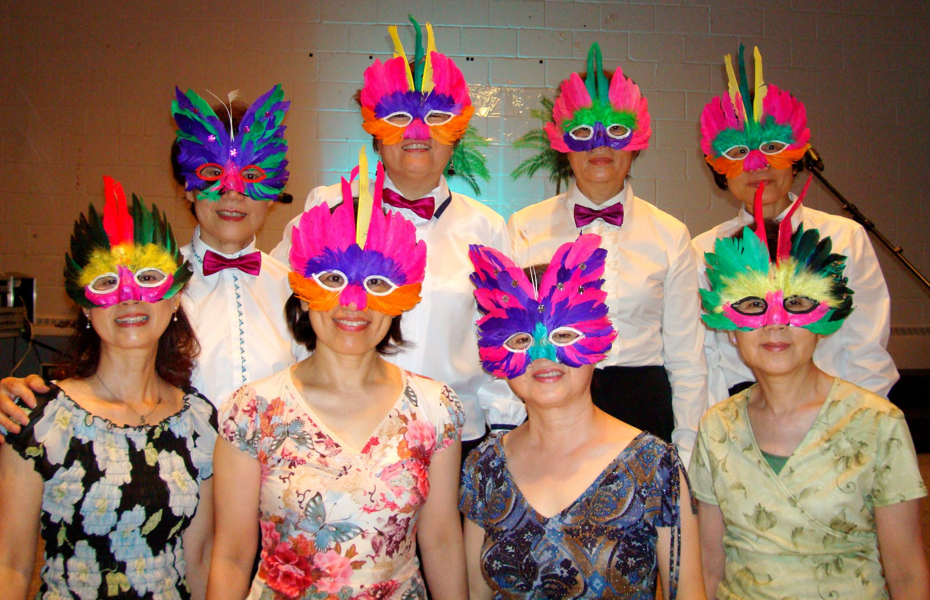 Masquerade Dancers with masks on, Cooksville United Church, 19 June 2010