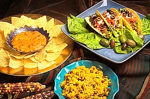 Mexican Food Google image from http://www.kids-cooking-activities.com/fiesta-theme-dinner.html