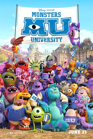 Monsters University Movie Poster Google image from http://reelandunscripted.com/wp-content/uploads/2013/06/Monsters-University-Movie-Poster.jpg