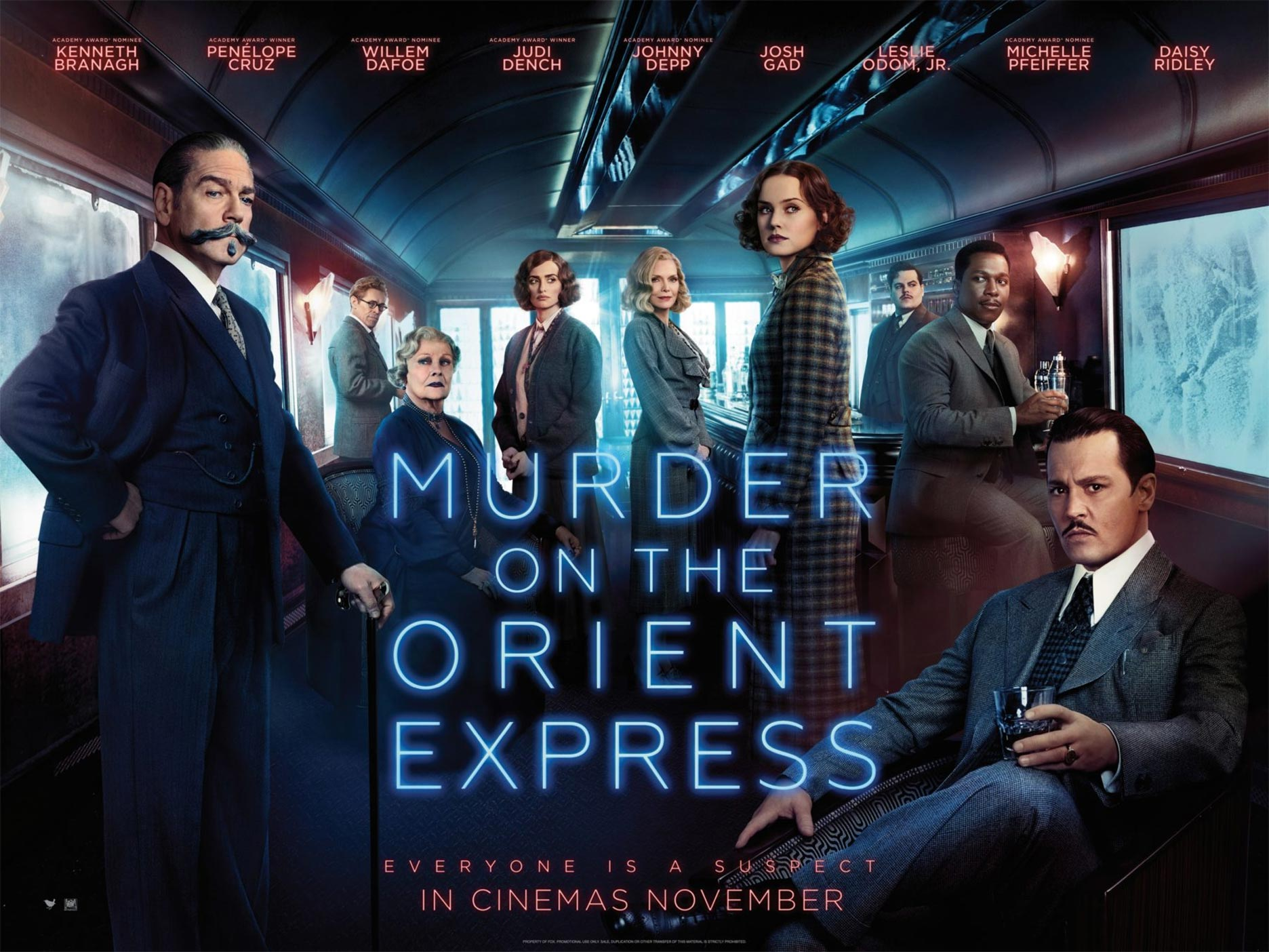 Murder on the Orient Express (2017) Movie Poster Google image from https://www.traileraddict.com/murder-on-the-orient-express/poster/3