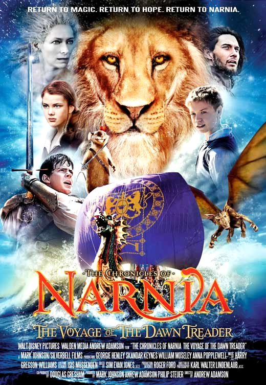 The Chronicles of Narnia: The Voyage of the Dawn Treader (2010) Movie Poster Google image from http://garydavidstratton.com/?attachment_id=1072