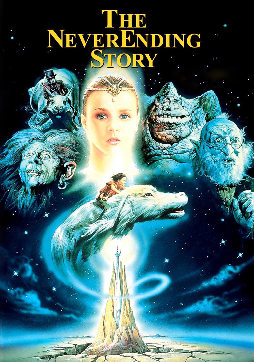The NeverEnding Story (1984) Movie Poster Google image from https://fanart.tv/movie/34584/the-neverending-story/