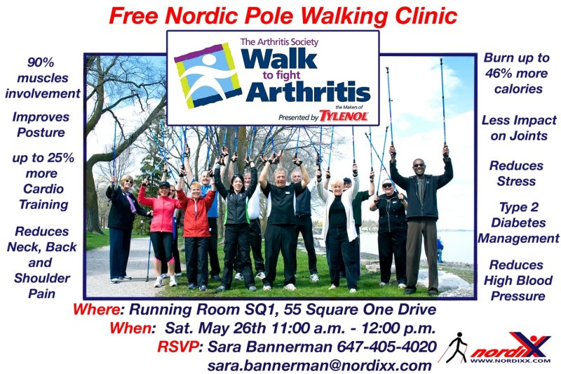 Nordic Pole Walking Clinic flyer from Sara Bannerman@nordixx.com 23 May 2012