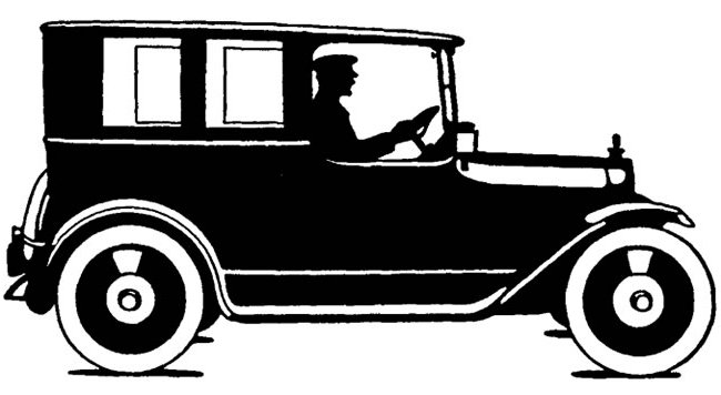 Antique Car Silhoulette Google image from http://headlinenewsstories.com/wp-content/uploads/2010/06/antique-car-silhouette.jpg