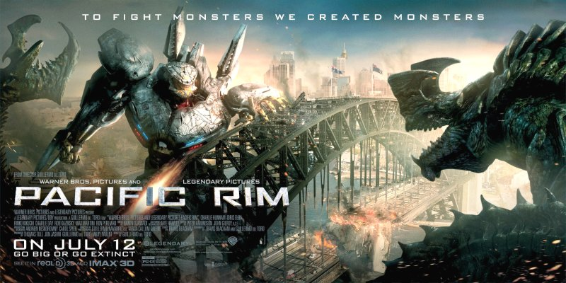 Pacific Rim Movie Poster Google image from http://wac.450f.edgecastcdn.net/80450F/screencrush.com/files/2013/04/pacific-rim-poster-jaeger-kaiju-banner.jpg