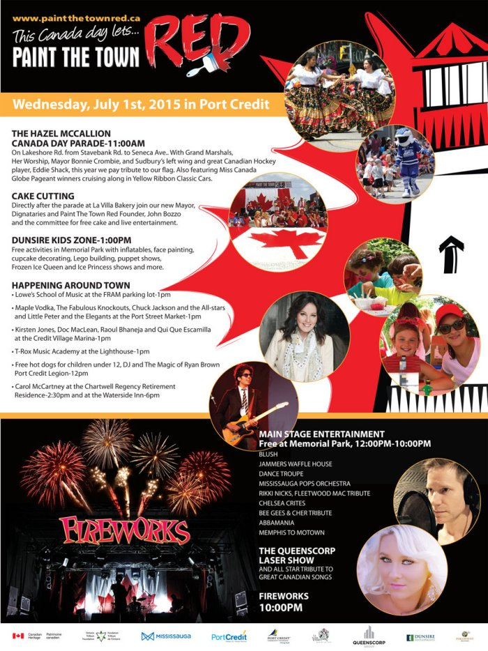 Paint the Town Red on Canada Day 2015