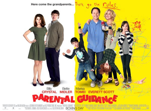Parental Guidance Movie Poster Google image from http://themovieblog.com/wp-content/uploads/2013/01/Parental-Guidance-Quad-.jpg