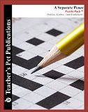 A Separate Peace by John Knowles, Puzzle Pack: Puzzles, Games and Worksheets by Mary B. Collins (Teacher's Pet Publications) (Print Copy) (Perfect Paperback)