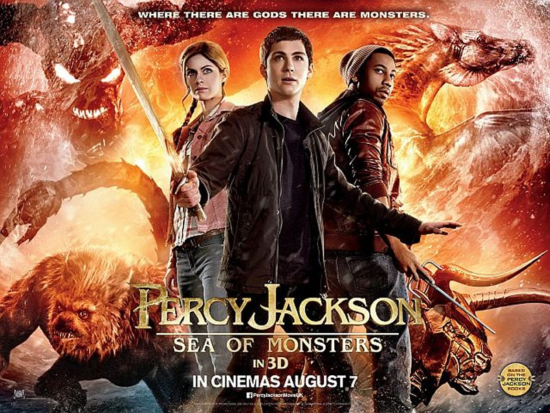 Percy Jackson: Sea of Monsters 2013 Movie Poster Google image from http://howsyourrobot.com/wp-content/uploads/2013/09/Percy-Jackson-Sea-of-Monsters-Quad.jpg