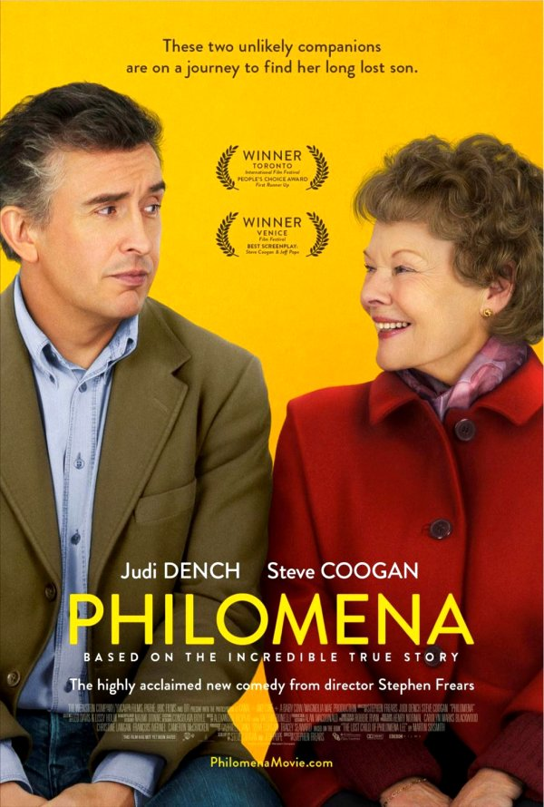 Philomena (2013) Movie Poster Google image from http://www.rmhspacer.com/wp-content/uploads/2013/12/philomena-movie-poster-2.jpg