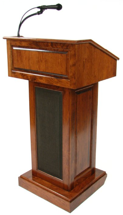 Counselor Evolution Lectern/Podium Google image from https://executivewood.com/product/lectern-podium-sound-clr235-ev