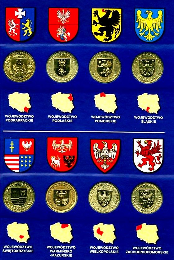 Polish Coin Collection Google image from http://www.talismancoins.com/catalog/Poland_Province_Coins_Spread.jpg