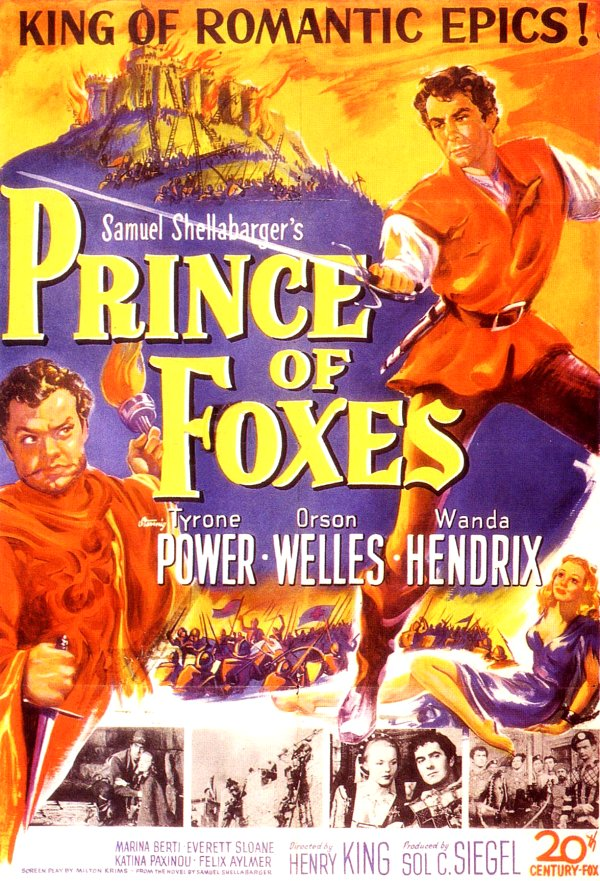 Prince of Foxes (1949) Movie Poster from http://www.doctormacro.com/Images/Posters/P/Poster%20-%20Prince%20of%20Foxes_01.jpg