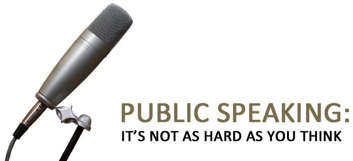 Public Speaking: It's Not as Hard as You Think Google image from http://rocheconsultinggroup.com/wp-content/uploads/2011/06/PublicSpeaking.jpg