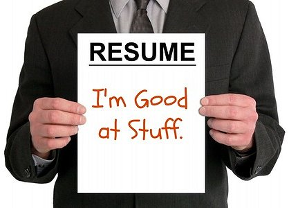 Resume: I'm Good at Stuff Google image from http://ashtonassociates.com/15-ways-to-boost-your-job-search-write-a-better-resume-get-hired/