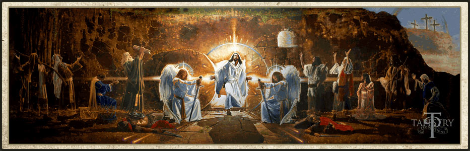 The Resurrection Mural by Ron DiCianni image from Tapestry Productions Google image from https://s-media-cache-ak0.pinimg.com/originals/dd/95/d2/dd95d2bb511d0a1341c6cc87851db77f.jpg