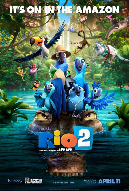 Rio 2 (2014) Movie Poster Google image from http://www.impawards.com/2014/rio_two_ver6_xlg.html
