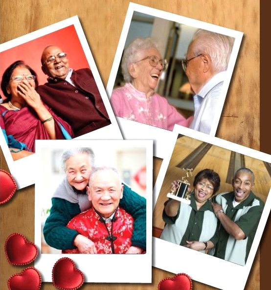 Senior Couples image from Young at Heart Celebrates Senior's Month Poster