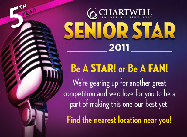 Chartwell's Senior Star Competition 2011