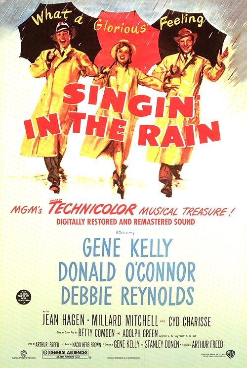 Singin' in the Rain (1952) Movie Poster Google image from https://www.movieposter.com/posters/archive/main/93/MPW-46604