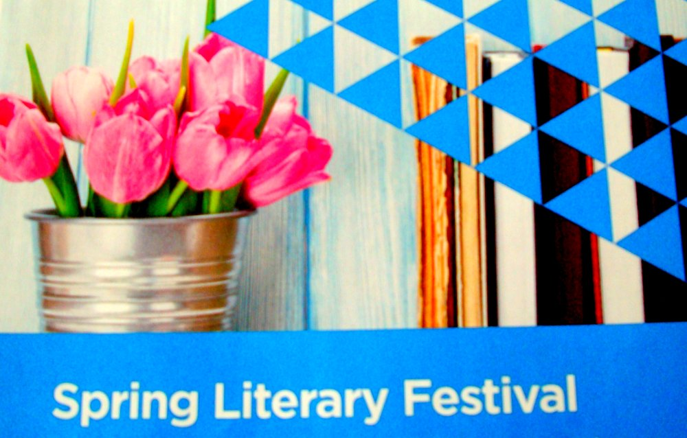 Spring Literary Festival image from Burnhamthorpe Library poster 19May17