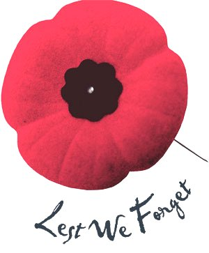 Poppy: Lest We Forget - Remembrance Day Google image from http://pulse.feds.ca/system/files/poppy_300.jpg