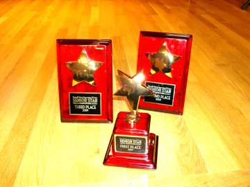 Trophies for Chartwell 's 2009 Senior Star Regional Competition Event held at Older Adult Centre 18 June 2009