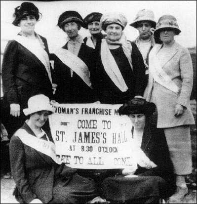 Newfoundland-Labrador Suffragists, 1920 Google image from http://www.heritage.nf.ca/articles/politics/images/newfoundland-labrador-suffragists-1920.jpg