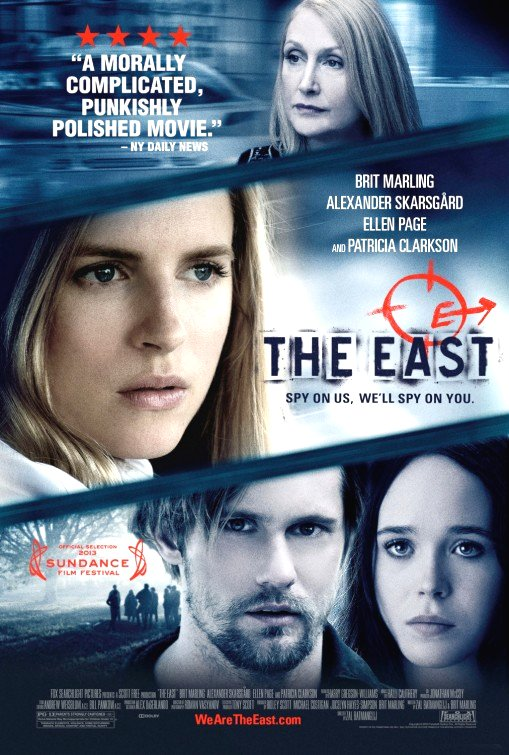 The East Movie Poster Google image from http://www.impawards.com/2013/east_ver2.html