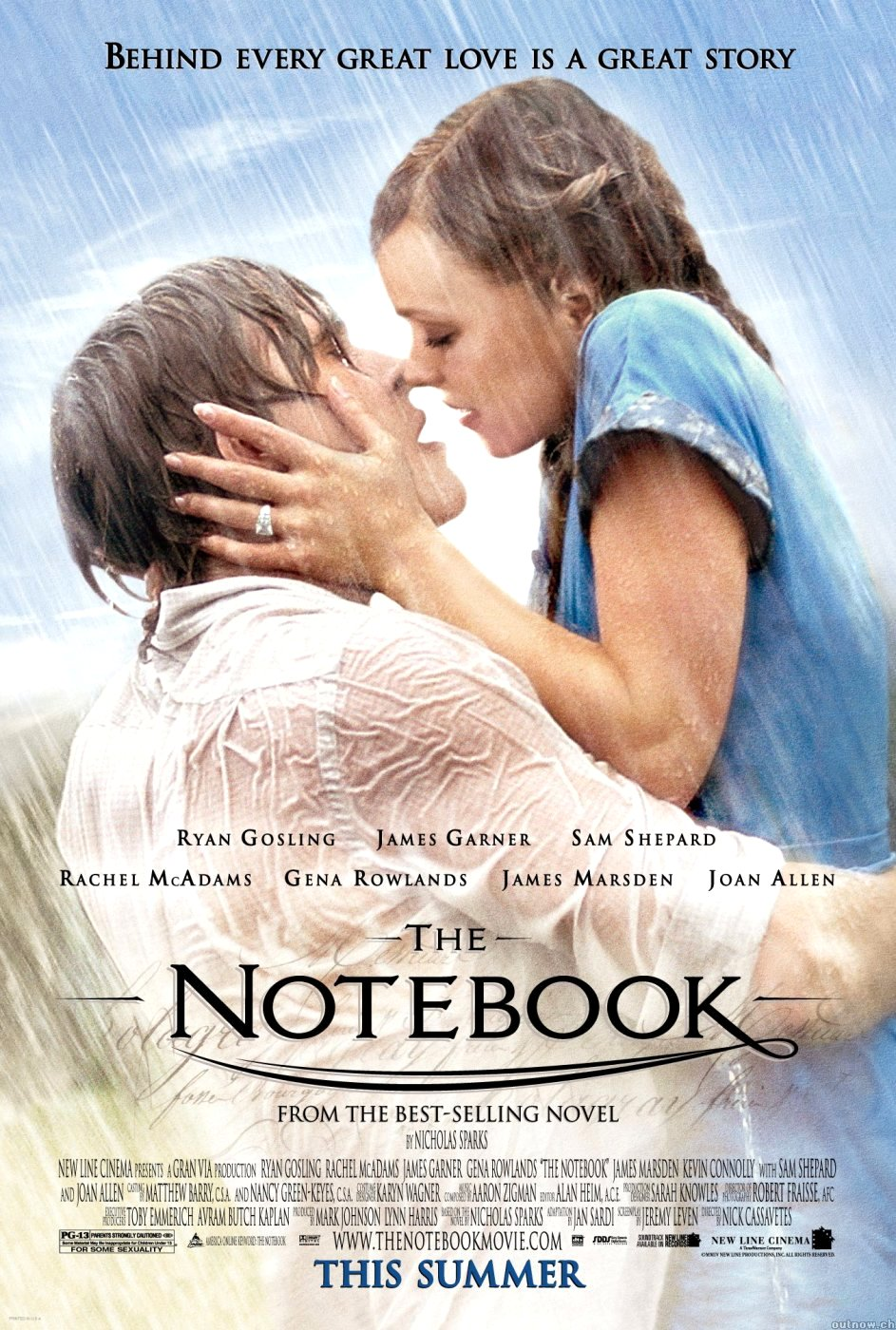 The Notebook Movie Poster Google image from http://economydecoded.com/wp-content/uploads/2014/01/The-notebook.jpg