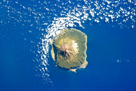 Tristan da Cunha on 6 February 2013, as seen from the International Space Station image from http://en.wikipedia.org/wiki/Tristan_da_Cunha
