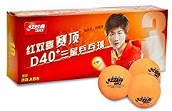DHS ITTF Approved 3 Star Olympic Games 40mm Table Tennis Balls 6-Pack, Double Happiness (DHS)