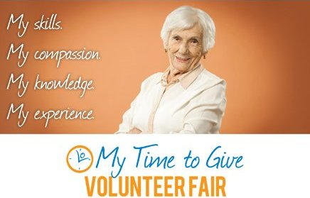 My Time to Give Volunteer Fair Google image adapted from http://www.volunteermbc.org/sites/default/files/images/VIVA_MTTG_Volunteer_Fair_April-11-2014_v1.jpg