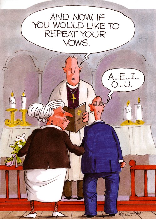 Repeat your vows - Funny Wedding Card Cartoon from Wrinklies wrinklies_cards018_1024x1024 at https://www.comedycard.co.uk/products/funny-wedding-card-wrinklies-repeat-your-vows
