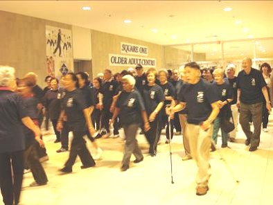 Group of mall walkers