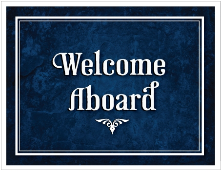 Welcome Aboard Sign Google image from Ministry Greetings http://ministrygreetings.com/welcome-aboard-greeting-card-p-1394.html