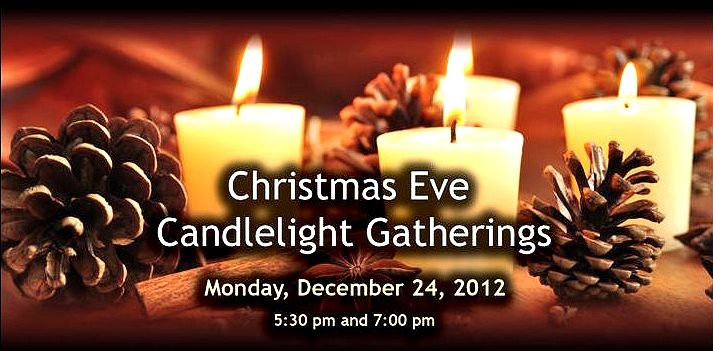 Christmas Eve Candlelight Gatherings image from Office Administrator email at  www.connectingfaith.ca