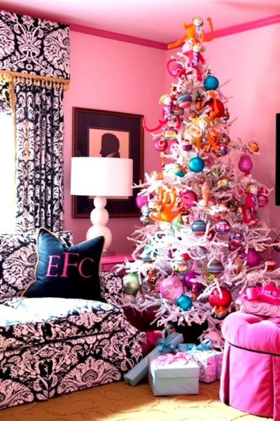 Cute Christmas Tree Decoration in Room Google image from http://archimags.com/wp-content/uploads/2013/10/Cute-Christmas-Trees-Decor-682x1024.jpg
