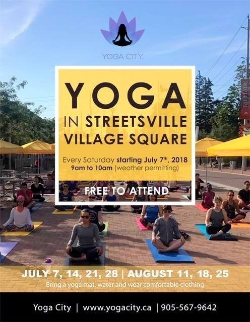 Yoga in the Square Google image from http://toronto.carpediem.cd/events/7054627-yoga-in-the-square-at-streetsville-village-square/